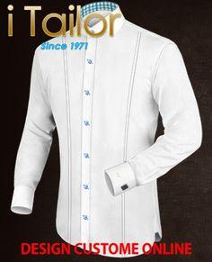 Design Custom Shirt 3D $19.95 witte overhemd Click http://itailor.nl/shirt-product/witte-overhemd_it789-1.html