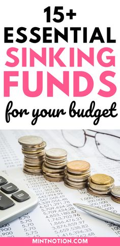Sinking funds categories you need in your budget. Here's a list of top sinking funds that can help you save money without having to dip into your emergency fund or go into debt. Includes printable sinking funds tracker to help you track and organize your savings. Sinking Funds, Life On A Budget, Debt Free Living, Paying Off Student Loans, Down Payment, Finance Organization, Create A Budget, Frugal Living Tips, Love Your Life