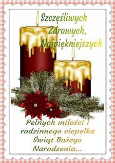 Kartka świąteczna 👼🎅🤶🌲🎄👼🌲🎄🤶🎅 Christmas Wreaths, Xmas, Christmas Tree, Christmas Ornaments, Christmas Pictures, Happy New Year, Decoupage, Happy Birthday, Holiday Decor