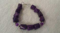 Purple Turkish Turquoise With Purple Dragon Vein Agate Bracelet See this on www.northerngems.ca
