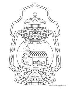 Coloring Pages Nocturnal Animals Awesome Winter Snow Globe Adult Coloring Page – Coloring Books Gallery Coloring Pages Winter, Santa Coloring Pages, Adult Coloring Book Pages, Printable Adult Coloring Pages, Coloring Pages For Kids, Coloring Books, Kids Coloring, Christmas Coloring Sheets, Printable Christmas Coloring Pages