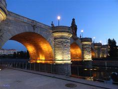 Puente de Toledo de noche (Madrid Río)