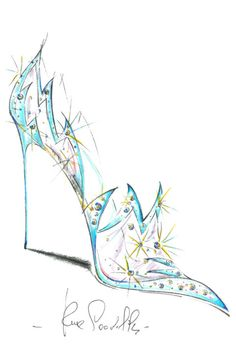 Rene Caovilla reimagines Cinderella's glass slipper in celebration of the forthcoming release of the live action version of Cinderella