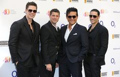 David Miller Sebastien Izambard Carlos Marin and Urs Buhler of Il Divo attend the Nordoff Robbins 02 Silver clef Awards at The Grosvenor House Hotel...