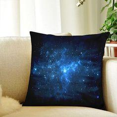 Galaxy Pillow Case Blue Pillowcase Cover 18X18 Decorative Cushion Throw Pillow Cover Case Couch Pillow Case
