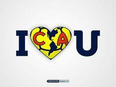 I love you club América. Corazón Azul Crema. Fútbol Soccer - Ozzy
