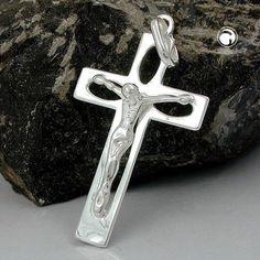 Anhänger, Kreuz mit Jesus, Silber 925 accessorize24-90945