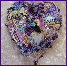 Dean Designs: The Purple Corner - Crazy Quilt Heart