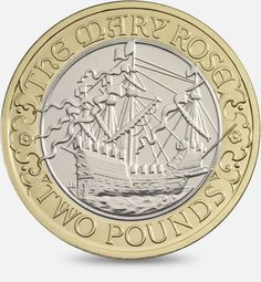 500th Anniversary of the maiden voyage of the Mary Rose - 2011  http://www.royalmint.com/discover/uk-coins/coin-design-and-specifications/two-pound-coin/2011-mary-rose