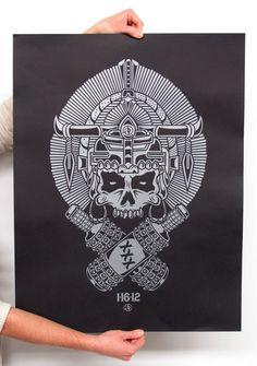 Custom illustrated posters for Austin Longboard Club   by Tony Sanchez (Sanctuary Printshop)