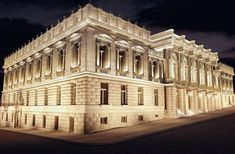 The Ziller Building of the National Theater of Greece in Athens where the performance 'One Νight' [Μια Νύχτα] was held in May 2015 Bauhaus, Rail Transport, National Theatre, Concert Hall, Opera House, Transportation, Places To Go, Louvre, Urban