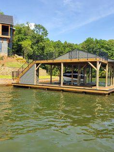 Deck Railings, Garden Bridge, Exterior, Outdoor Structures, Cabin, House Styles, Home Decor, Decoration Home, Room Decor