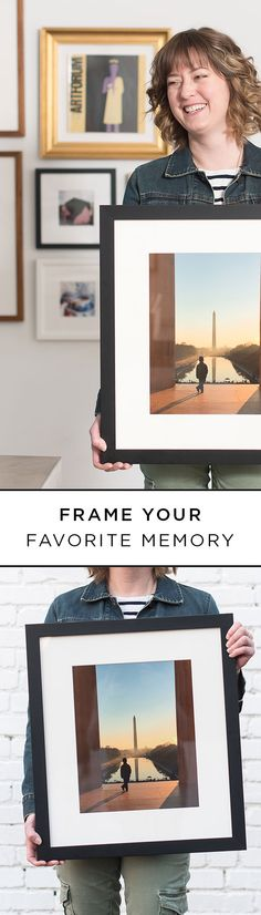 Let @Framebridge help you get your favorite memories onto your walls. Upload your photos, select your custom frame style, and your frame will ship to your door for free, ready-to-hang!