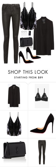 """Untitled #1853"" by samikayy76 ❤ liked on Polyvore featuring Zara, Anine Bing, Fleur du Mal, Christian Louboutin, Yves Saint Laurent, Rick Owens and ASOS"