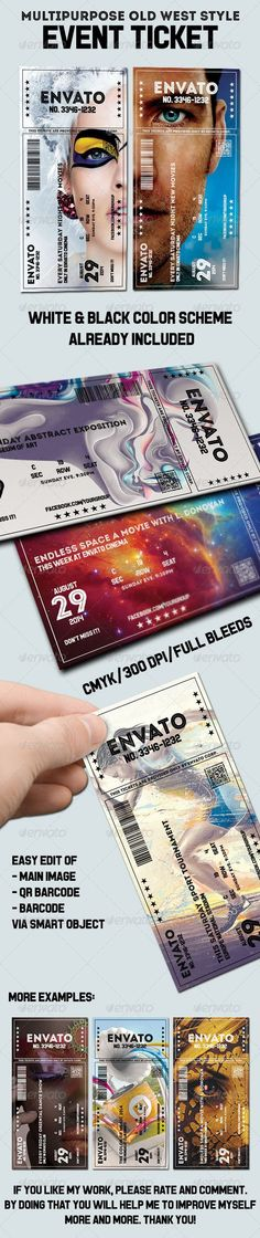 Elegant multipurpose event ticket Templates PSD | Buy and Download: :