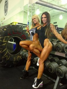 SEXY MUSCULAR DREAM LEGS of blonde Brazilian #Fitness model & IFBB Figure Competitor Larissa Reis and her gilfriend : if you LOVE Health & #Motivational Goals & #Fitspiration - you'll LOVE the #Inspirational designs at CageCult Fashion: http://cagecult.com/mma