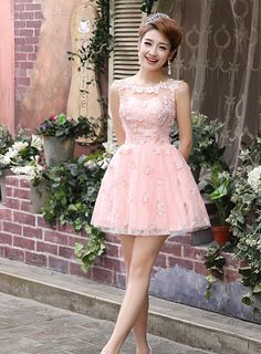 Ericdress A-Line Appliques Short Prom Dress Prom Dresses 2015- ericdress.com 11300380