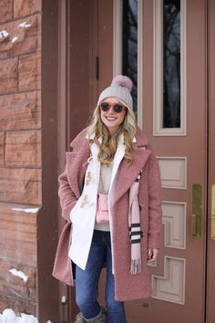 Pink and Blush in Aspen // atlantic pacific, blair eadie, burberry, aspen fashion, winter outfit