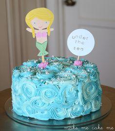 Under The Sea Mermaid Birthday Cake | Make Me Cake Me