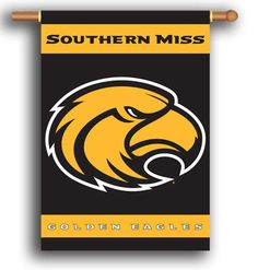 "NCAA Southern Miss Golden Eagles 2-Sided 28"""" X 40"""" Banner W/ Pole Sleeve"