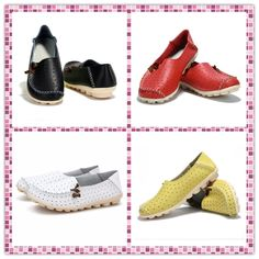 $15.22 Big Size Hollow Out Breathable Soft Sole Slip On Flat Loafers