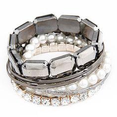 [€ 8.98] Belle Assortiment avec Perle/Strass Femmes Bracelets (011038858)