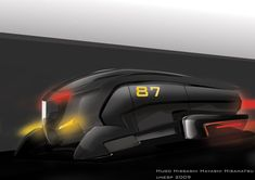 concept truck by H-hissashi on deviantART Future Trucks, Truck Design, Futuristic Cars, Motorcycle Design, Car Sketch, Commercial Vehicle, Motor Car, Concept Cars, Tractors