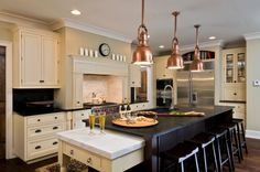 Simple Design Kitchen Island With Pull Out Table : Elegant Decor Black Kitchen Island With Pull Out Table