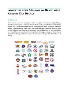 Get More Noticed With Custom Car Decals Car Magnets Pinterest - Custom car decals and magnets