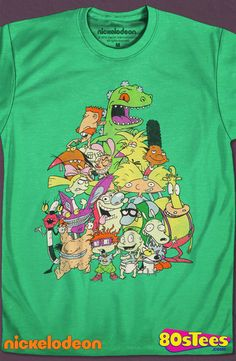 Animated All-Stars Nickelodeon T-Shirt: Nickelodeon Geeks:  Every day can be special wearing this cool design with great art and illustration.   Add humor to your men's style wardrobe.