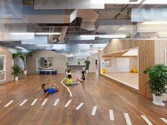 arquitectura guarderia 4 500x377 Espacios Cool para Niños: Guardería Kiddy Shonan C/X en Kanagawa, Japón