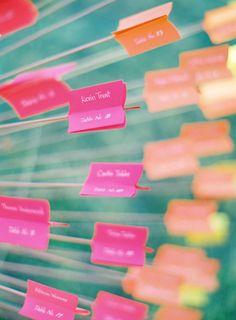 Modern Nappa Wedding / Jose Villa/Idea taken from Louis Vuitton Window Display/Escort Cards