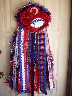 Football Homecoming Mums | Homecoming Mums - Grapevine Mustangs Super Football Shape Homecoming ...