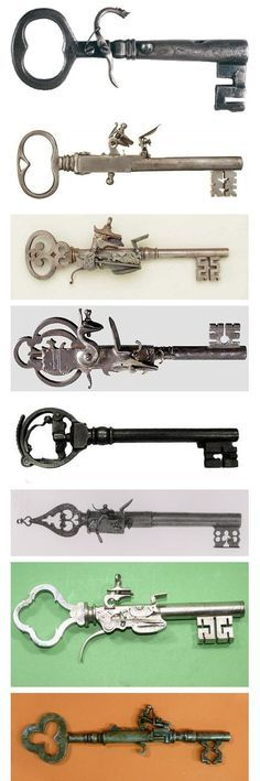 "Gives a new meaning to ""blow the locks"" Knobs And Knockers, Door Knobs, Door Handles, Under Lock And Key, Key Lock, Antique Keys, Vintage Keys, Cles Antiques, Old Keys"