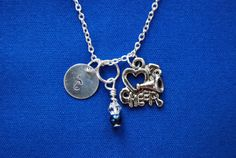 Customized Love to Cheer Charm Necklace with by VarsityChic