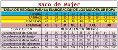 Table of Measures of Women and Sack of Women. - My World Of Mod .- Tabla de Medidas de Mujer y Saco de Mujer. – Mi Mundo De Moda – Costura Cort… Table of Measures of Women and Sack of Women. – Mi Mundo De Moda – Sewing Cutting and Sewing - Latina, Periodic Table, Sewing, World, Academia, Grande, Diana, Fan Art, Blazer