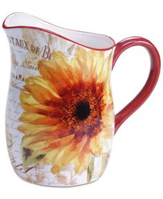 Certified International Paris Sunflower Pitcher  So happy to say I have one!!!!!!...mn