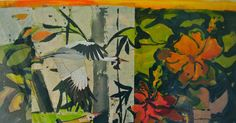 Breath of Summer- Collage by Lynne Friedman, www.lynnefriedmanart.com
