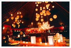 I love the way they used laterns to fill the space and make it grand... and this looks like the palapa too!