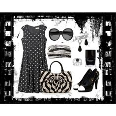 film noire, created by susanlavonne on Polyvore