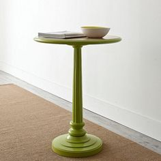 Green Meridian Accent Table