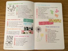 bullet journal sprea