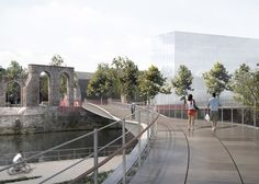 Six designs unveiled in shortlist for Bath Quays Bridge competition.