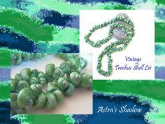 Twitter Tweets, Sterling Jewelry, Sea Shells, Costume Jewelry, Iridescent, Exotic, Crochet Necklace, Aqua, Etsy