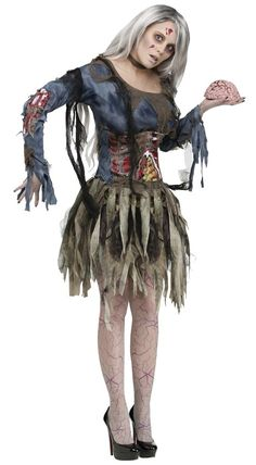 037f99a25d28 Zombie Adult Med Large. Zombie Costume WomenNerd Halloween CostumesMost ...