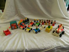 Vintage Fisher Price Wooden Plastic Little People Mixed Lot  #FisherPrice