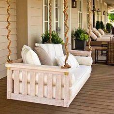 """Banco suspenso  para relaxar na varanda!  Suspended bench  to relax at the balcony!"" Photo taken by @dm_interiordesign on Instagram, pinned via the InstaPin iOS App! http://www.instapinapp.com (02/09/2015)"