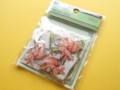SOLEIL SEAL Sticker Flakes Sack Kamio Japan Scrapbooking *Forest Animal (45063)