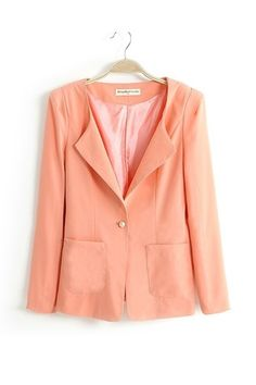 Neat Pure Color Slim Ladies Blazer [FFBI0217]- US$ 15.99 - PersunMall.com