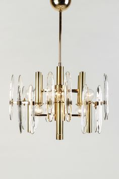 Hollywood Regency Sciolari Chandelier
